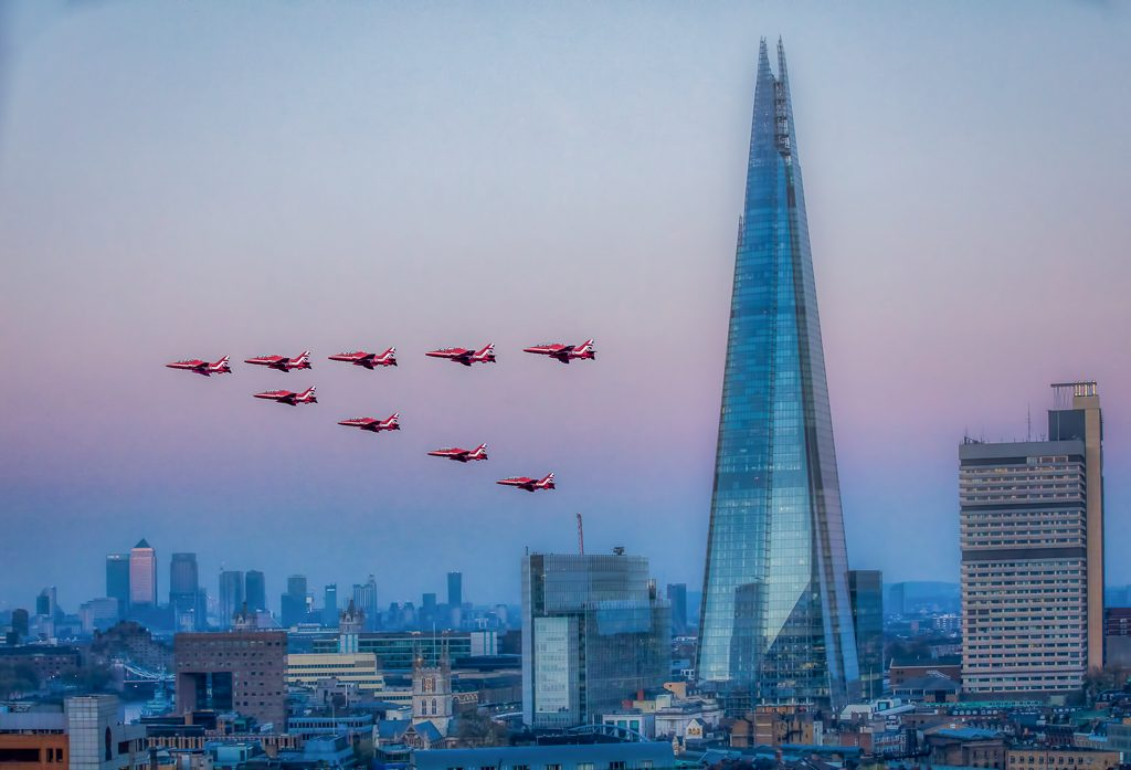Red Arrows and the Shard